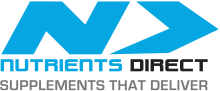 nurtients direct logo, with text, supplements that deliver